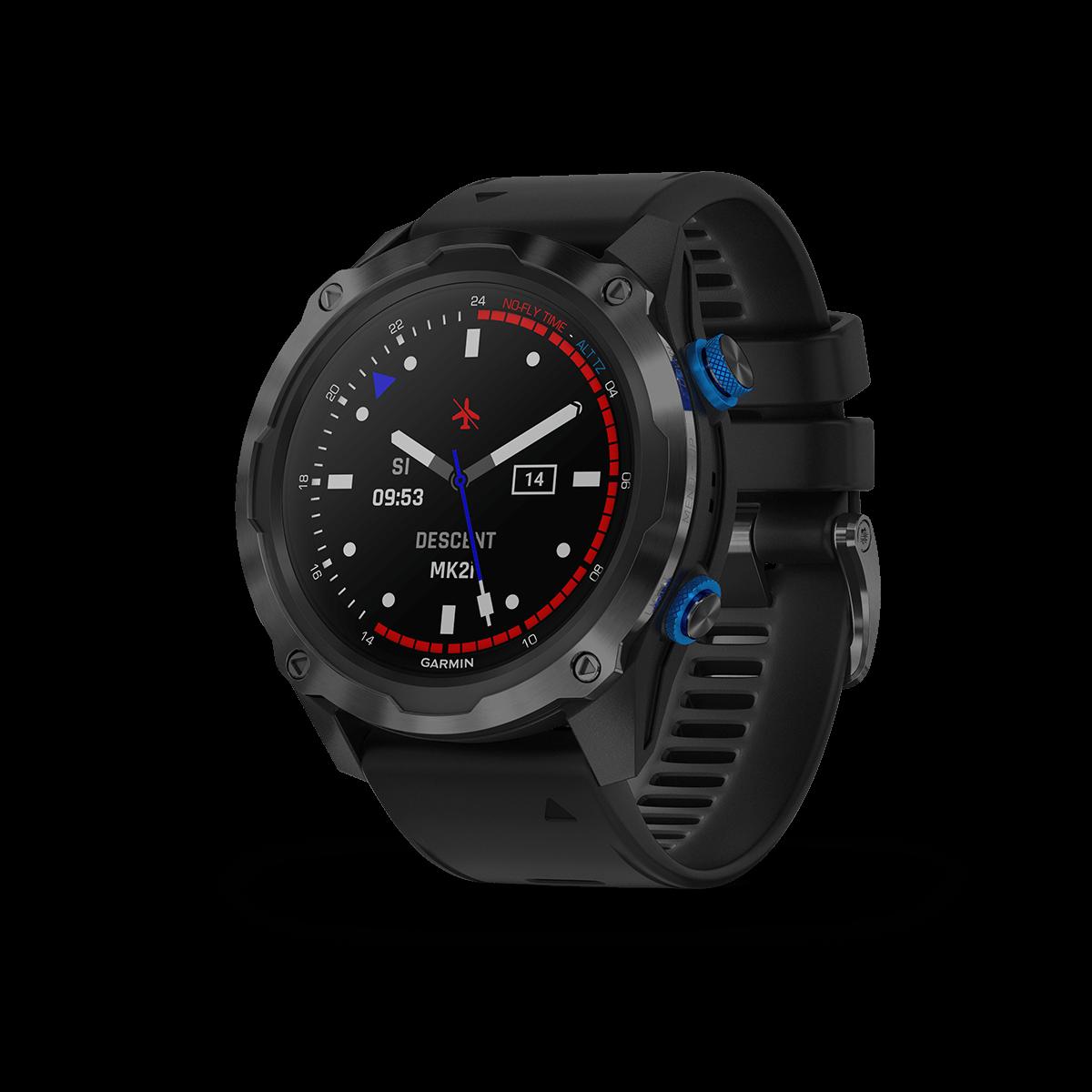 Garmin Descent™Mk2i, graues DLC-Titan mit schwarzem Armband