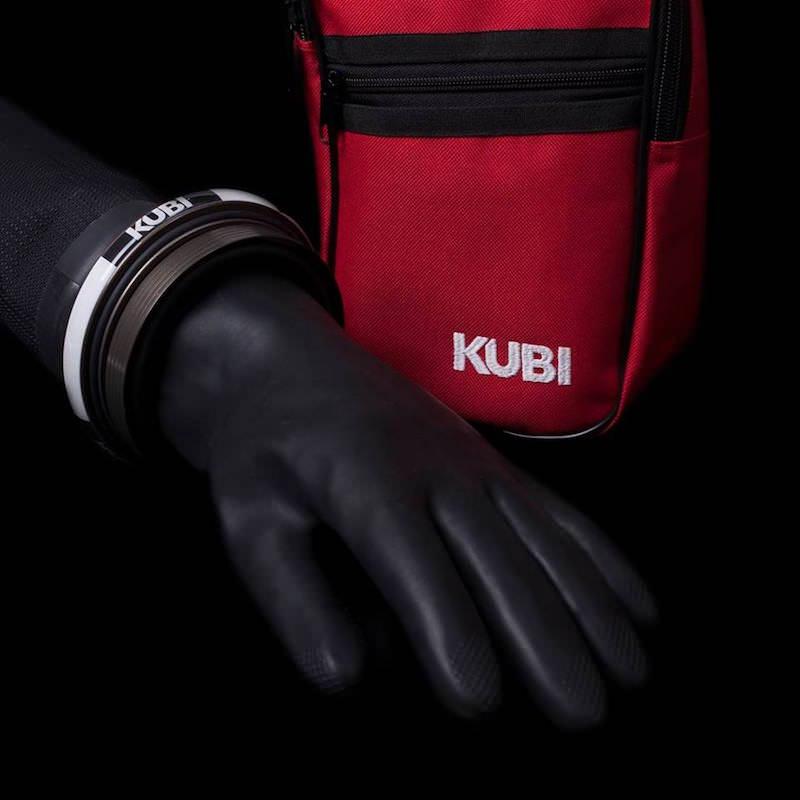 KUBI Ringhandschuhsystem 90mm - Handschuhseite mit Handschuh XXL